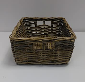 Rattan Storage Basket Grey