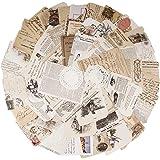 52 Feuilles de papier de Scrapbooking Vintage Papier décoratif Rétro DIY Album Photo pour Journal Artisanat Scrapbooking