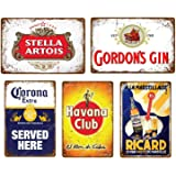 5 stks Vintage Bier Whiskey Plaque Retro Metalen Bord Emaille Bord mannen Cave Bar Pub Reclame Wanddecoratie 20x30 cm YD5047J
