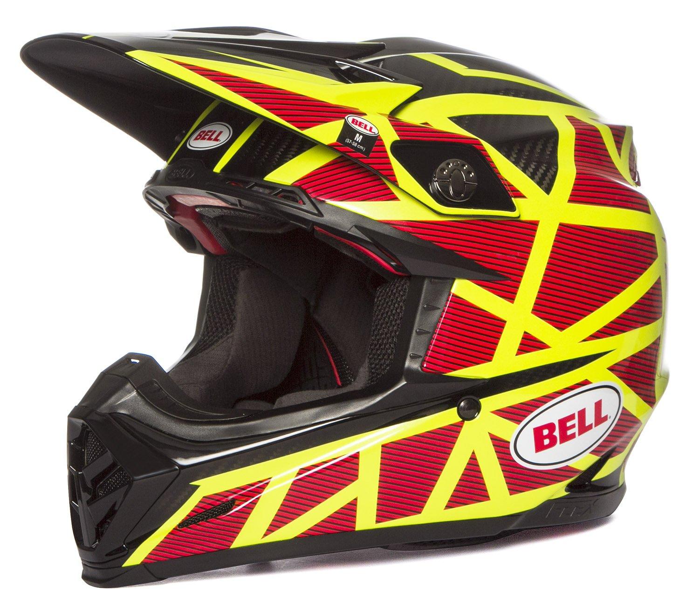 Bell Moto-9Carbonio Flex Off Road Motocross Casco MX–Strapped giallo/rosso