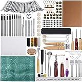 Outils de travail du cuir 110 Pcs Outils et fournitures de travail en cuir Outils de travail des outils en cuir pour estamper