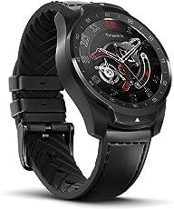 TicWatch Pro Bluetooth Smart Watch con display a strati e doppio sistema operativo, Google Assistant, compatibile con Android 4.4+ Samsung, Huawei, Sony, Motorola, LG, HTC e iOS 9.3+ Apple iPhone (nero)
