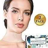 Blumbody Parche Antiarrugas par el Cuello - 2 Reutilizable Almohadillas de Silicona para las Arrugas del Cuello - Tratamiento