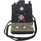 SriShopify Handicrafts Banjara Style handmadeThread work Beaded Sling bag for Women | Crossbody Long Strap Purse | Handmade N