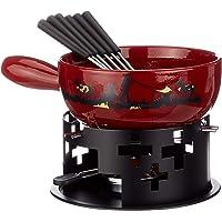 KUHN RIKON 32178 Souffleur Set à Fondue de Fromage Cor 9 pièces Comprenant Caquelon à Fondue savoyarde, brûleur, pâte…
