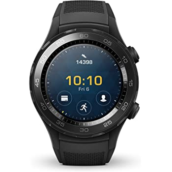 Huawei Watch 2 Smartwatch, 4 GB ROM, Android Wear, Bluetooth, Wifi, Monitoraggio della frequenza cardiaca, Nero (Carbon Black)