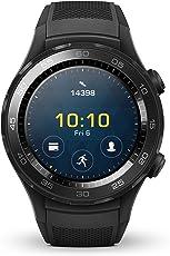 HUAWEI WATCH 2 (Bluetooth) Smartwatch mit schwarzem Sportarmband (NFC, Bluetooth, WLAN, Android Wear™ 2.0) schwarz