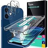TOCOL 4 Piezas Protector de Pantalla para iPhone 12 Mini 5G 5.4 Pulgadas, 2 Piezas Cristal Templado y 2 Piezas Protector de L
