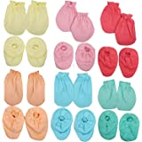 BABY FASHION ® MY BABY MITTEN BOOTIES SET (COMBO OF 12 PAIRS)