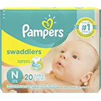 Pampers Swaddlers Diapers (N, 20 Counts Each) - Pack of 2