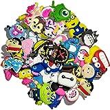 50 Pcs Different Shoe Charms for Croc Shoes & Bracelet Wristband Kids Party Birthday Gifts - Decoración de zapatos Mix color