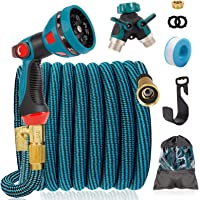 """IDEALHOUSE 50ft Expandable Garden Water Hose Pipe with 3/4"""", 1/2"""" Fittings, Anti-Leakage Flexible No Kinks Expanding…"""