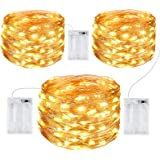 Gritin Guirnalda Luces, [3 PCS] 10M/100 LED Guirnalda Luces LED Exterior Impermeable Cadena Luces de Cálida Amarilla Luces Na