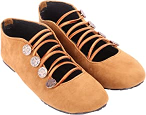 Red Choice Collection Beige Casual Velvet Shoes For Women and Girls (RC074)