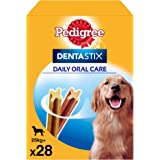 Pedigree Pack de Dentastix de uso Diario para la Limpieza Dental de Perros Grandes (4 Packs de 28ud)