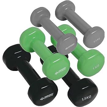 Schildkröt Fitness 960010 - Juego de mancuernas (en maletín), color negro, gris y verde