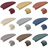 Kettelservice-Metzker Stufenmatten Treppen-Teppich Rambo 15er SparSet 17 Farben incl. Fleckentferner (Beige)