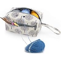 Luxja Sac pelote de Laine, Sac pour Tricot, Sac Tricot pour Crochet Laine, Aiguilles à Tricoter (Max 8 Pouces) et d…