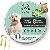 Ubica® Collier Anti Puces pour Chien Naturel Anti Tiques pour Petit Chien (8kg) – Répulsif – Formule aux Huiles Essentielles