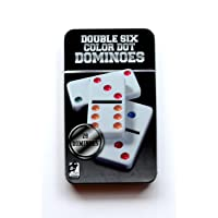 Double Dot Dominoes Set with Tin Case (6 Colours) - Pack of 28