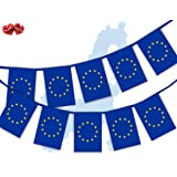 Party Decor EU European Union Full Flag Patriotic Themed Bunting Banner 12 Rectangular flags for guaranteed simply stylish party National Royal decoration