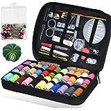 OneChois Nähset mit, 188 Premium Nähzubehör, 24 Farbspulen für Nähzubehör für Reisen und Zuhause