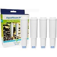 4x AquaHouse AH-CJW Compatible Filtres à Eau pour Cafetière Jura Claris white