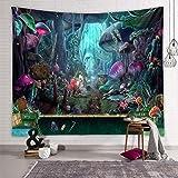 Zodight Tapiz de Pared Psicodélico, Tapices de Jardín de Hongos Tapiz Abstracto Hippie Tapiz de Cuento de Hadas, Tapestry Dec