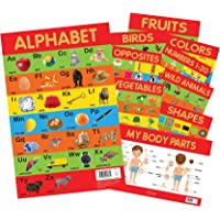 Early Learning Educational Charts For Kids - Pack of Ten Charts: Perfect For Homeschooling, Kindergarten and Nursery Students (11.5 Inches X 17.5 Inches)