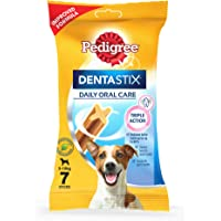 Pedigree Dentastix Small Breed (5-10 kg) Oral Care Dog Treat, 110g Weekly Pack (7 Chew Sticks)