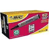 BIC Marking 2000 Permanent Marker 8209153, Watervaste Stift voor Glas, Metaal, Hout & Meer, Lijndikte 1,7 mm, 12 Stuks, Zwart