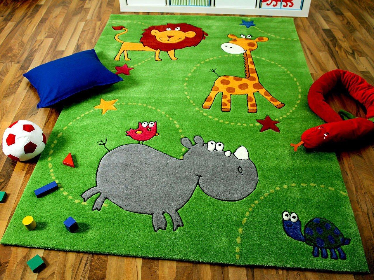 Kinderteppich grün  Lifestyle Kinderteppich Grün Zoo in 3 Größen !!! Sofort Lieferbar ...
