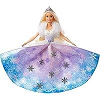 Barbie Dreamtopia poupée princesse Flocons avec robe qui se déploie et cheveux blonds à mèche rose, jouet pour enfant…