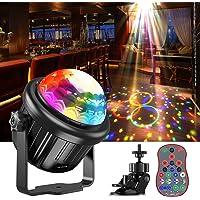 Discokugel,Disco Lights Disco Lichteffekte Musikgesteuert Party lichter 360°Rotierende Ball Lights mit 4M USB Kabel…