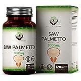 EN Saw Palmetto Serenoa Repens 300mg | 120 Capsule Vegane con Zinco per Uomo | Estratto 20:1 per la Salute della Prostata e Capelli | Integratori Contro Prostatite Cronica & DHT Blocker | Senza OGM