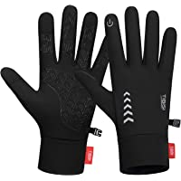 MIBEI Mens Womnes Winter Gloves Windproof Running Gloves Cycling Gloves Thermal Touch Screen Gloves for Driving Walking…