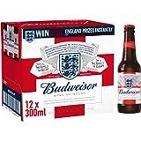 Budweiser Lager Beer Bottle, 12 x 300ml