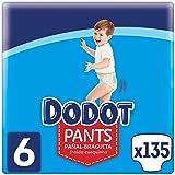Dodot Pañales Bebé Pants Talla 6 (+15 kg), 135 Pañales, Pañal-Braguita con Ajuste 360° Anti-Fugas