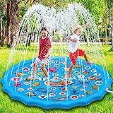 Paochocky Splash Pad de Verano de 170 cm, Salpicaduras Juegos de Agua para niños y niñas en Aire Libre Jardín Actividades Fam