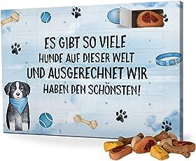 printplanet Hunde-Adventskalender mit Leckerlis - Verschiedene Motive - Weihnachtskalender für Hunde