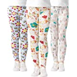 Adorel Leggings Stretch Stampa Calzamaglie Bambina 3 Pack