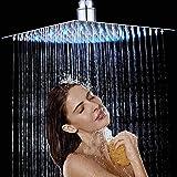 Rozin - Soffione da doccia quadrato da 30,5 cm, cromato e ultra sottile, per bagno e doccia, montaggio a soffitto, 3…