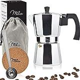 Milu Espresso Maker (utan induktion)   2, 3, 6, 9 koppar   Mockakruka i aluminium, espressokruka, espressobryggarsats inklusi