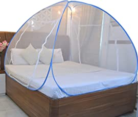 SoulShine Polyester King Size Double Bed Portable Foldable Mosquito Net