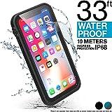 Catalyst Coque Etanche iPhone X (10mètres), Protection Grade Militaire Anti-Chute pour iPhone X (Noir Mat) - Non Compatible avec l'iPhone XS