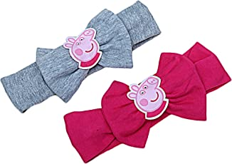 D'chica Set of Two Chic Peppa Pig Headbands for Girls - (Size:- Free, 2 Headband)