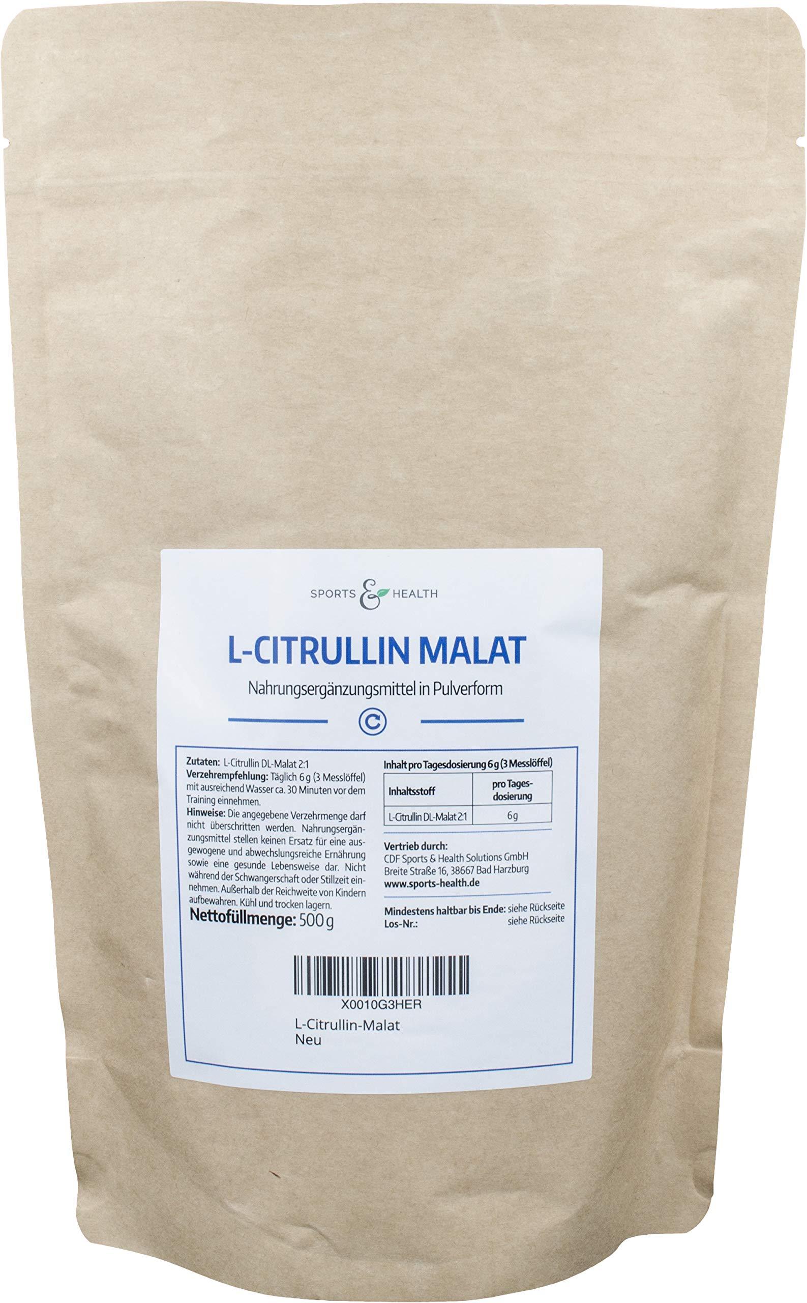 L- Arginin Base Pulver 500 Gramm - 100% ohne Zusatzstoffe