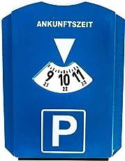 DS Varieties UG Parkscheibe mit Eiskratzer und Gummilippe/Scheibenwischer Parkuhr aus Kunststoff Parkuhr Auto blau