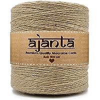 Ajanta | Natural 2-Ply Jute Rope (50 Meters, 2mm) Linen Twine Rustic String Cord Rope DIY Burlap String Rope Party…
