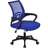 Yaheetech Chaise de Bureau à roulettes Maille Mesh Fauteuil de Bureau Ergonomique Inclinable Pivotant Siège et Base Plus…